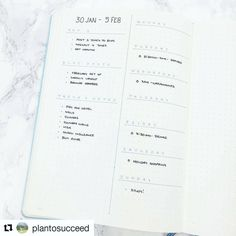 "1,603 Likes, 14 Comments - Minimalist Bullet Journals (@minimalistbujo) on Instagram: ""Love this super simple weekly page by @plantosucceed ❤ I personally use something similar and then…"""