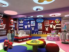 Kidstore branding done for Disney licensee. Designed shop in shop branding with diseny properties Steel Furniture, Kids Furniture, Furniture Design, Kids Toy Store, Retail Branding, Store Interiors, Retail Design, Boutique, Behance
