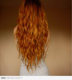 Long red hair- this is how i want my hair to look. Thus my goal hair. Long Red Hair, Grow Long Hair, Long Curly, Long Hair Cuts Wavy, V Cut Hair, Brown Hair, Thick Hair, Long Layered Haircuts Curly, Straight Hair
