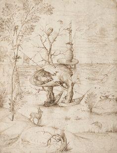 Hieronymus Bosch, Der Baummensch - The Tree-Man, um 1500 © Albertina, Wien Hieronymus Bosch, Renaissance, Garden Of Earthly Delights, Dutch Painters, Arte Popular, Dark Art, Lovers Art, Online Art, Painting & Drawing