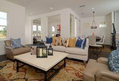 A Spanish Revival by #KKDL Backsplash Design, Spanish Revival, Kitchen Design, Tiles, Vibrant Colors, Couch, Furniture, Home Decor, Room Tiles