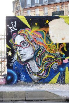 Paris 19 - rue de l'Ourcq - street art- Marcelo Ment