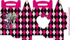 Monster High: Free Printable Lunch Box.