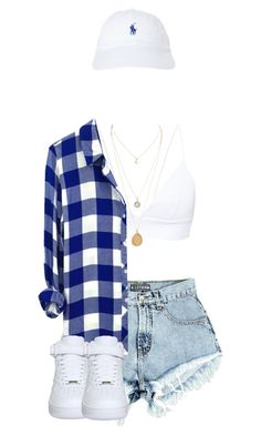 """.Gone."" by ilovenuttelacats ❤ liked on Polyvore featuring NIKE and Polo Ralph Lauren"