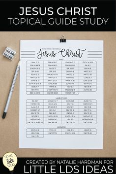 Begin your Jesus Christ Topical Guide Study to draw the power of the Savior into your life. Use these study sheets to guide and track your efforts.