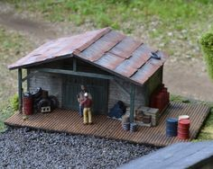 Demolitions/Supply shed from Kit 1 (HO scale).  Note all the metal details that accompany this kit! $149.99