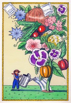 Gardening illustration for Express Magazine