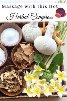 DIY herbal compress, you can heat and apply topically to sooth aching muscles, headaches, cramps, and more. Make your perfect combination of medicinal herbs, salts, clays, and natural elements for an anti inflammatory powerhouse.