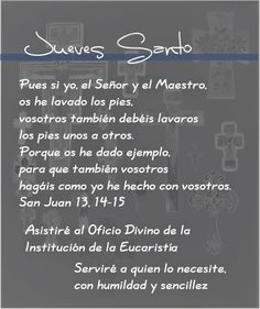 Oracion para JUEVES SANTO