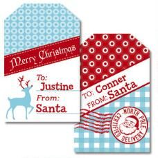 North Pole Personalized Gift Tags<br>by Designer Maureen Anders