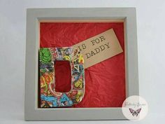 Dad frame superhero gifts fathers day gifts by FlutterbyBazaar Superhero Gifts, Personalised Frames, Craft Day, Dad Day, Gifts For Father, Great Gifts, My Etsy Shop, Arts And Crafts, Atc