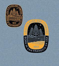 Levi's Strauss & Co Logo – Vintage Logo Design -… – Logo Design Club - Modern Typography Logo, Logo Branding, Branding Design, Vintage Logo Design, Logo Vintage, Vintage Graphic, Logo Club, Outdoor Logos, Outdoor Brands