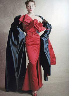 Jacques Fath Vogue, September 1950 Fashion and Designer Style Moda Retro, Moda Vintage, Vintage Vogue, Vintage Glamour, Jacques Fath, Fifties Fashion, Retro Fashion, Club Fashion, Fashion Vintage