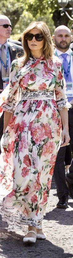 First Lady Melania Trump in Dolce & Gabbana