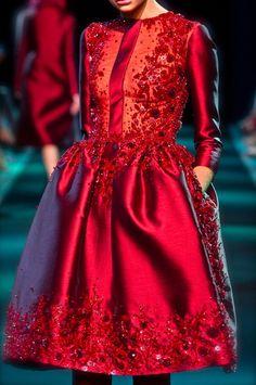 citygirldiaries:  Georges Hobeika, F/W 2013  beautiful shade of RED