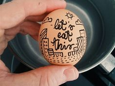 It's time to eat this ! Egg Logo, Time To Eat, Doodles, Eggs, Design Inspiration, Let It Be, Photo And Video, Drawings, Artworks