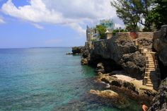View of Blue Cave Castle. Pee Wee Lane, West End, Negril.