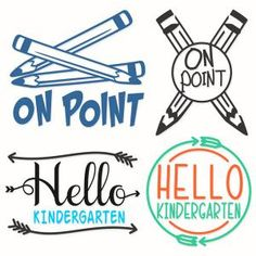 Back to School Pack with Phrases like On Point Hello Kindergarten and Stuffs including Pencils and Arrows Cuttable Design Cut File. Vector, Clipart, Digital Scrapbooking Download, Available in JPEG, PDF, EPS, DXF and SVG. Works with Cricut, Design Space, Sure Cuts A Lot, Make the Cut!, Inkscape, CorelDraw, Adobe Illustrator, Silhouette Cameo, Brother ScanNCut and other compatible software.