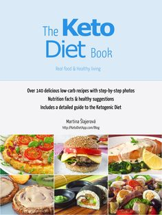 The KetoDiet Book: Over 140 low-carb, grain-free recipes (and still expanding) with step-by-step photos. Nutrition facts and healthy suggestions. Includes a detailed guide to the Ketogenic Diet!