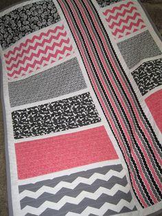 Chevron Baby Quilt La di Da' Lane Crib by SewnWithLoveByVicki, $150.00