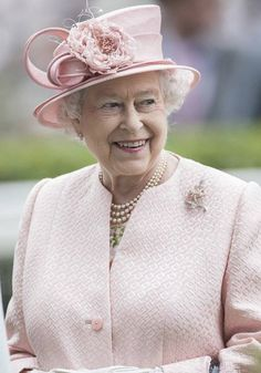 Queen Elizabeth II in soft pink
