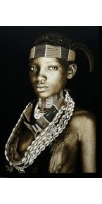 Hamar Lady Tribal Wall Hanging Eclectic Artwork, African Tribes, Mona Lisa, Mario, Lady