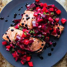 Dress Up Your Dinner: Grilled Salmon With Beet Blood Orange Relish