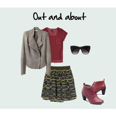 A fashion look from September 2012 featuring red t shirt, biker jackets and circle skirts. Browse and shop related looks. Red T, Biker, Fashion Looks, Skirts, Polyvore, T Shirt, Jackets, Shopping, Style