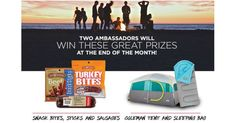 """WIN an Old Wisconsin Snack Package or Coleman Tent & Sleeping Bag! Share Articles & Recipes and Recruit Your Friends to Start Earning Points! Every 100 pts= 1 Entry into the Monthly Drawing. How to earn points on Old Wisconsin: Signup-100 pts Visit OldWisconsin.com Add a social media network to your Old Wisconsin Account-50 pts … Continue reading """"WIN an Old Wisconsin Snack Package or a Coleman Tent & Sleeping Bag!"""""""