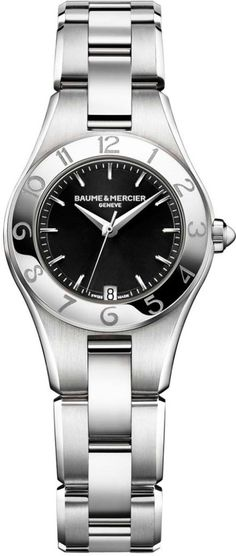 Baume et Mercier Watch Linea #add-content #bezel-fixed #bracelet-strap-steel #brand-baume-et-mercier #case-depth-7-95mm #case-material-steel #case-width-27mm #date-yes #delivery-timescale-call-us #dial-colour-black #gender-ladies #luxury #movement-quartz-battery #official-stockist-for-baume-et-mercier-watches #packaging-baume-et-mercier-watch-packaging #style-dress #subcat-linea #supplier-model-no-m0a10010 #warranty-baume-et-mercier-official-2-year-guarantee #water-resistant-50m