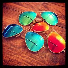 love love love colored ray bans
