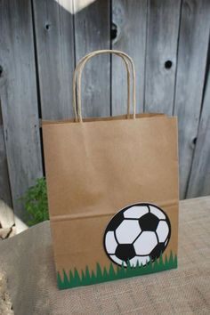 Items similar to Set of 8 Sports Party Favor Bags, Basketball Favor Bags, Baseball Favor Bags, Soccer Favor Bags, Football Favor Bags on Etsy - Obst Sports Party Favors, Soccer Birthday Parties, Football Birthday, Party Favor Bags, Favor Boxes, Football Favors, Pochette Surprise, Creative Gift Wrapping, Decorated Gift Bags