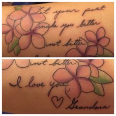 #beautiful #tattoo for my #grandma in her handwriting