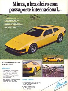 miura Porsche, Audi, Chevy, Volkswagen, 70s Cars, Motor Works, Old School Cars, Car Advertising, Old Ads