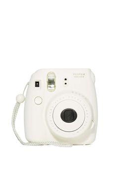 Fujifilm Instax Mini 8 Instant Camera White - Instax Camera - ideas of Instax Camera. Trending Instax Camera for sales. Poloroid Camera, Instax Mini Camera, Fujifilm Instax Mini 8, Fuji Polaroid, Aldo Conti, Cute Camera, Camera Art, Bff, Nerd