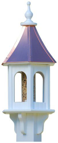 The Birdhouse Chick  Copper Gazebo Bird FeederPVC 28x10 * Click the VISIT button to enter the website