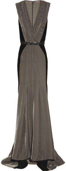 bottega veneta velvet gown