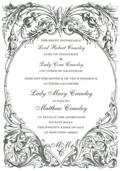 Downton Wedding (technically they were married in the church not in downton.)