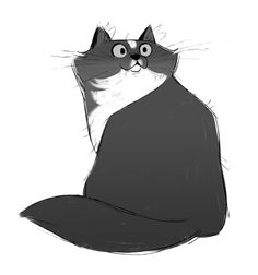 631: Tuxedo This sketch really didn't want to happen so I made him a bit frazzled :P