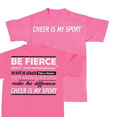 cheer is my sport t shirt by cheerleading company