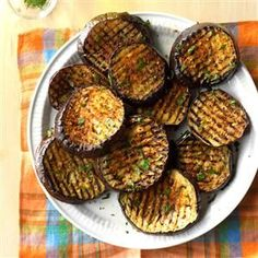 Spicy Grilled Eggplant Recipe -This grilled side goes well with pasta or grilled meats. Thanks to the Cajun seasoning, it gets more attention than an ordinary veggie. —Greg Fontenot, The Woodlands, Texas Grilled Eggplant Recipes, Grilled Vegetable Recipes, Grilled Vegetables, Grilled Meat, Vegetables On The Grill, Grilled Salmon, Pork Rib Recipes, Grilling Recipes, Cooking Recipes