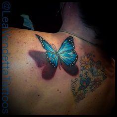 #Butterfly #3DTattoo by @LeaVendetta