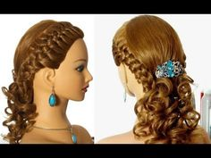 Romantic braided prom hairstyle for long hair. - YouTube