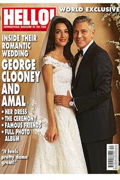 On the happiest day of George Clooney and Amal Alamuddin's lives, it was charity that came out as the real winner. Exclusive photos of the couple's wedding are rumored to have been sold to People and the British tabloid Hello! for around seven figures, and the money will be donated to charity. People's 25 exclusive photos include shots of the 30-minute ceremony, the star-studded parties and other candid moments. Hello!'s pictures ...