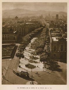 La Rambla vista des-de Colom anys 40 | Barcelona Antiga