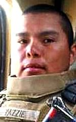 Marine LCpl. Alejandro J. Yazzie, 23, of Rock Point, Arizona. Died February 16, 2010, serving during Operation Enduring Freedom. Assigned to 1st Combat Engineer Battalion, 1st Marine Division, I Marine Expeditionary Force, Camp Pendleton, California. Died in Helmand Province, Afghanistan, when hit by enemy small-arms fire. LCpl. Yazzie was the 11th Navajo to die in combat since the wars in Iraq and Afghanistan began.