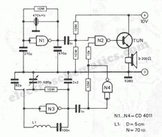 cheap metal detector circuit schematic
