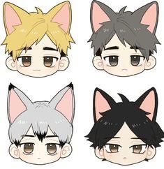Haikyuu Karasuno, Haikyuu Fanart, Haikyuu Anime, Kawaii Anime, Cute Anime Chibi, Anime Demon, Anime Manga, Anime Guys, Anime Stickers