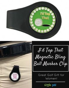 3576ec156a86 This magnetic ball marker clip comes with a bling I d Tap That ball marker