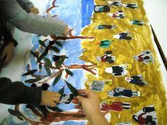 """1ο Νηπιαγωγείο Ηρακλείου Αττικής: Εικαστική δημιουργία εμπνευσμένη από τον πίνακα """"Το μάζομα των ελαιών εν Μιτυλήνη"""" Olive Oil, Blog, Blogging"""